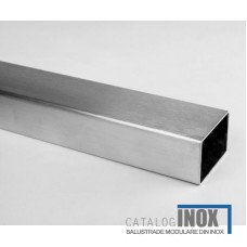 Teava inox satinat  40 x 40 x 2 x 6000 mm